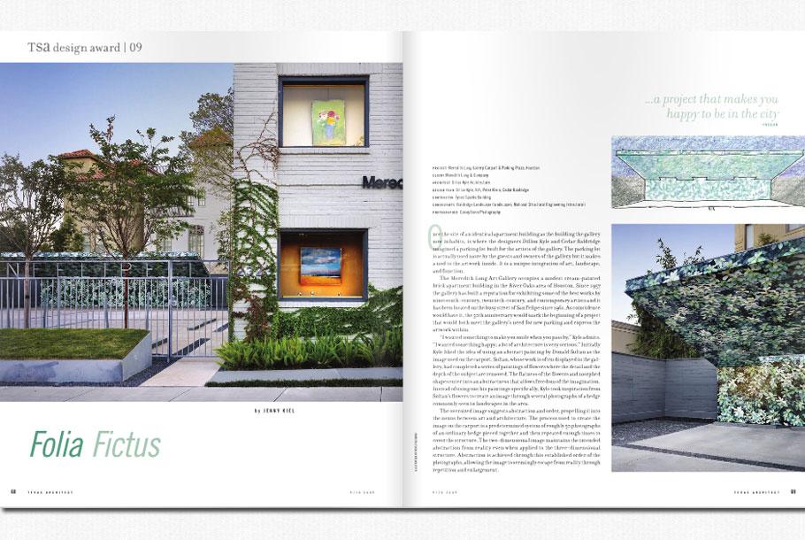 Texas architect magazine baldridge landscape baldridge for Architectural design magazine free download